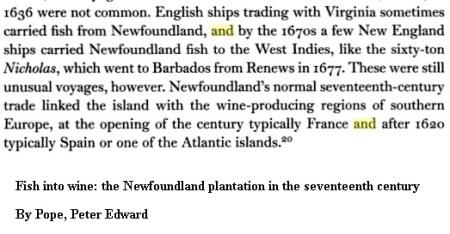 1677 Ship Nicholas for Barbadoes